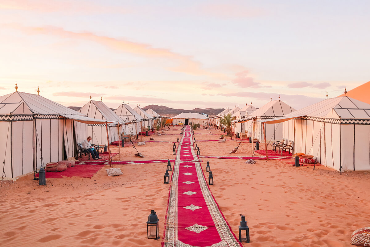 Glamping in the Sahara Desert